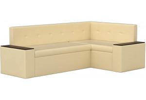 Кухонный угловой диван Остин Бежевый (Экокожа)