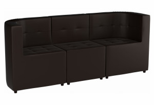 Модульный диван комплект Домино Коричневый (Экокожа)