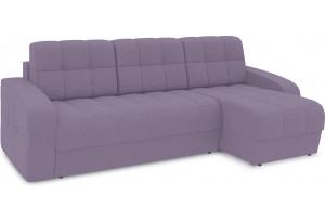 Диван угловой правый «Аспен Т1» (Neo 09 (рогожка) фиолетовый)