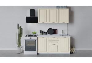 Кухонный гарнитур «Лина» длиной 150 см (Белый/Крем)
