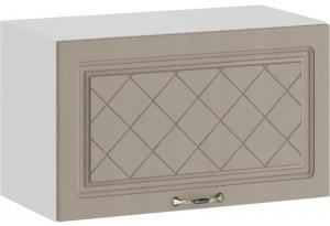 Шкаф навесной c одной откидной дверью «Бьянка» (Белый/Дуб кофе)
