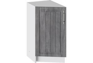 Шкаф напольный торцевой (ПРОВАНС (Белый глянец/Санторини темный))