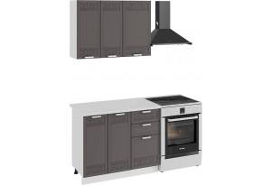 Кухонный гарнитур «Долорес» стандартный набор (Белый/Муссон)