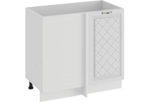 Шкаф напольный угловой «Бьянка» (Белый/Дуб белый)