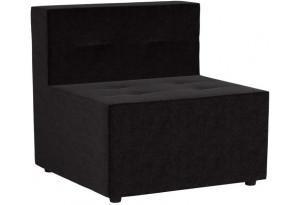 Модульный диван Домино Черный (Микровельвет)