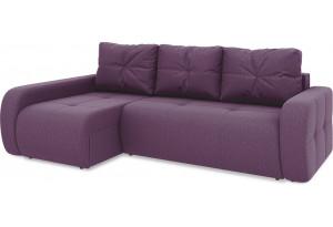 Диван угловой левый «Томас Т2» (Kolibri Violet (велюр) фиолетовый)