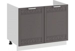 Шкаф напольный с двумя дверями (под накладную мойку) «Долорес» (Белый/Муссон)