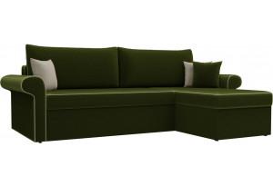 Угловой диван Милфорд Зеленый (Микровельвет)