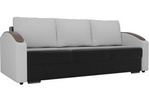 Прямой диван Монако slide Черный/Белый (Экокожа)