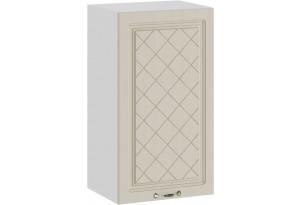 Шкаф навесной c одной дверью «Бьянка» (Белый/Дуб ваниль)