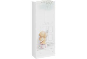 Шкаф комбинированный «Тедди» Белый с рисунком