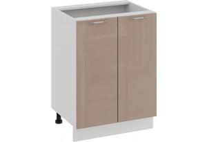 Шкаф напольный с двумя дверями «Весна» (Белый/Кофе с молоком)