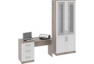Набор мебели для офиса №3 «Прованс» Дуб Сонома трюфель/Крем