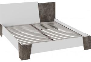 Кровать без подъемного механизма «Клео» (Белый ясень/Ателье темное)