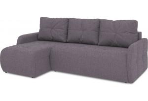 Диван угловой левый «Томас Slim Т1» (Levis 68 (рогожка) Темно - фиолетовый)