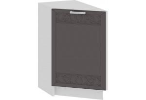 Шкаф напольный торцевой с одной дверью «Долорес» (Белый/Муссон)