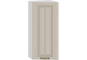 Шкаф навесной торцевой «Лина» (Белый/Крем)