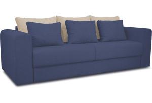 Диван «Вилсон» Neo 14 (рогожка) сиреневый, подушка Neo 02 (рогожка) бежевый