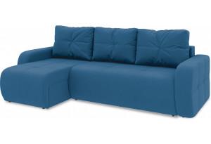 Диван угловой левый «Томас Т1» Beauty 07 (велюр) синий