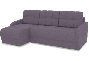Диван угловой левый «Аспен Slim Т1» (Levis 68 (рогожка) Темно - фиолетовый)