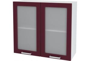 Ксения Навесной шкаф 800 мм, с дверцами и стеклом