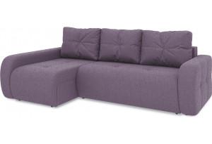 Диван угловой левый «Томас Т2» (Levis 68 (рогожка) Темно - фиолетовый)