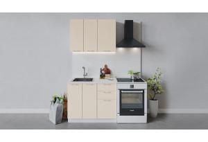 Кухонный гарнитур «Весна» длиной 100 см (Белый/Ваниль глянец)