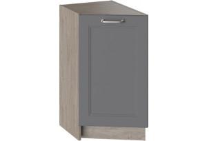 Шкаф напольный торцевой ОДРИ (Серый шелк)