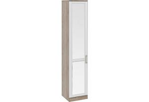 Шкаф для белья с 1-ой зеркальной дверью левый «Прованс» Дуб Сонома трюфель/Крем