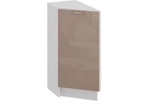 Шкаф напольный торцевой с одной дверью «Весна» (Белый/Кофе с молоком)