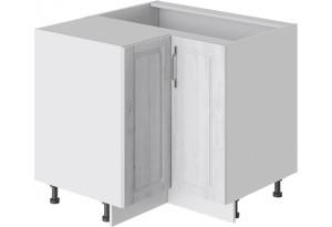 Шкаф напольный угловой с углом 90° (ПРОВАНС (Белый глянец/Санторини светлый))