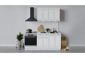 Кухонный гарнитур «Долорес» длиной 180 см со шкафом НБ (Белый/Сноу)