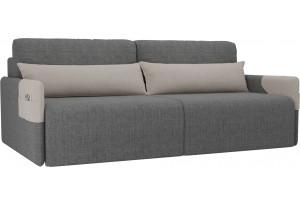Прямой диван Армада серый/бежевый (Рогожка)