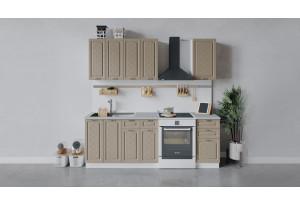 Кухонный гарнитур «Бьянка» длиной 160 см (Белый/Дуб кофе)