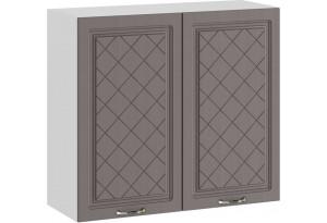 Шкаф навесной c двумя дверями «Бьянка» (Белый/Дуб серый)