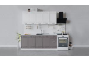 Кухонный гарнитур «Долорес» длиной 200 см (Белый/Сноу/Муссон)