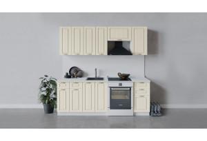 Кухонный гарнитур «Лина» длиной 220 см (Белый/Крем)