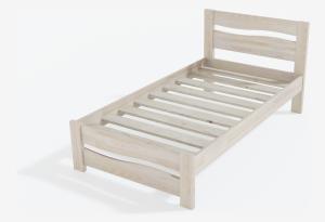Односпальная кровать Дарья из массива сосны