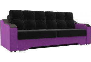 Прямой диван Браун черный/фиолетовый (Микровельвет)