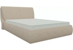 Интерьерная кровать Принцесса Бежевый (Микровельвет)