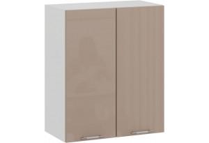 Шкаф навесной c двумя дверями «Весна» (Белый/Кофе с молоком)