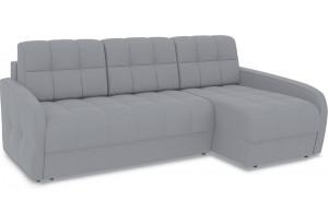 Диван угловой правый «Аспен Slim Т2» (Poseidon Grey (иск.замша) серый)
