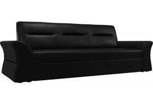 Прямой диван Клайд Черный (Экокожа)