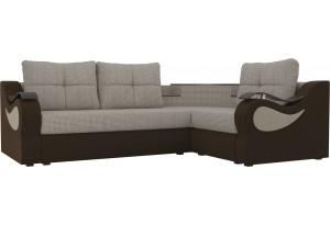 Угловой диван Митчелл Корфу 02/коричневый (Корфу/Микровельвет)