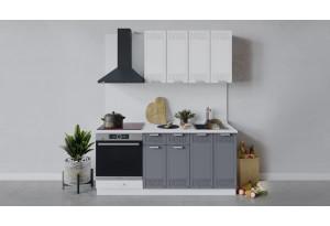 Кухонный гарнитур «Долорес» длиной 180 см со шкафом НБ (Белый/Сноу/Титан)