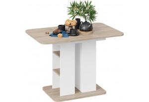 Стол обеденный «Мюнхен» Тип 2 (Белый Ясень/Дуб Сонома)