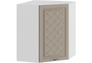 Шкаф навесной угловой «Бьянка» (Белый/Дуб кофе)