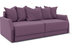 Диван «Люксор Slim» Kolibri Violet (велюр) фиолетовый