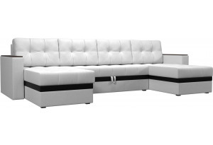 П-образный диван Атланта Белый (Экокожа)