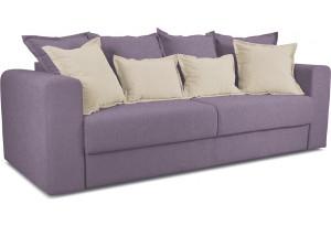 Диван «Раймонд» Neo 09 (рогожка) фиолетовый, подушка Neo 02 (рогожка) бежевый